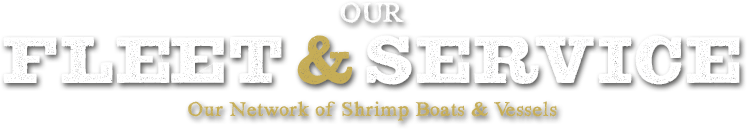 Our Fleet & Services. Our Network of Shrimp Boats & Vessels